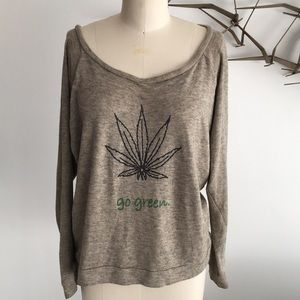 Karen Zambos Go Green sweatshirt